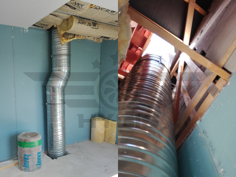 installation conduit extraction hotte
